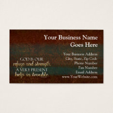 God Is Our Refuge Christian Bible Verse Brown/gold Business Card at Zazzle