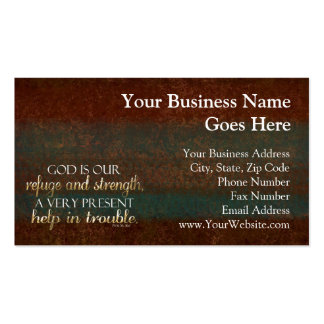 God is our Refuge Christian Bible Verse Brown/Gold Double-Sided Standard Business Cards (Pack Of 100)