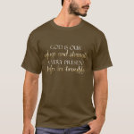 God is our Refuge Christian Bible Verse Brown/Gold T-Shirt