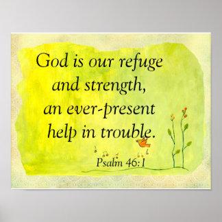 God is our refuge poster