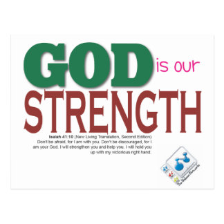 GOD is our strength Postcard