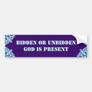 God is present bumper sticker car bumper sticker