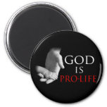 God Is Pro-Life 2 Inch Round Magnet