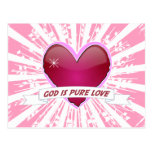 God is Pure Love Postcard