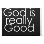 God is really Good Place Mat