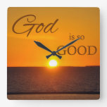 God is So Good Sunset Wall Clock