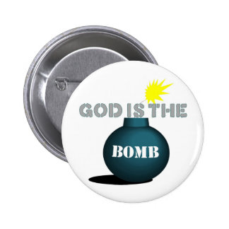 God is the bomb 2 inch round button