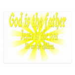 God is the father Jesus is the son Postcards