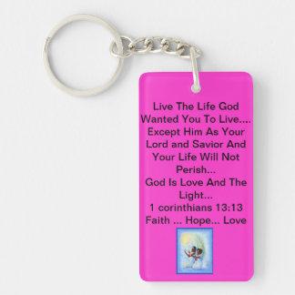 God Is The Light Double-Sided Rectangular Acrylic Keychain