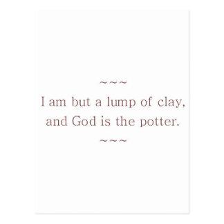 God is The Potter Postcard