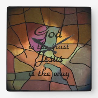 God Is The Trust Square Wall Clock