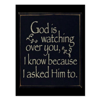 God Is Watching Over You Postcard
