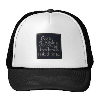 God Is Watching Over You Trucker Hat