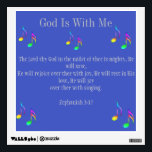 """God Is With Me Wall Decal<br><div class=""""desc"""">Musical Note Wall Decal: God Is With Me.</div>"""