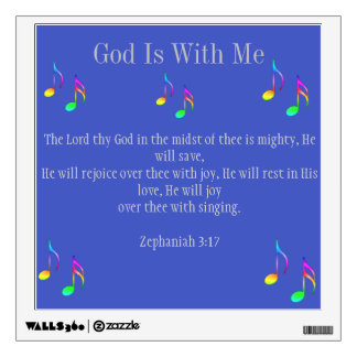 God Is With Me Wall Decal