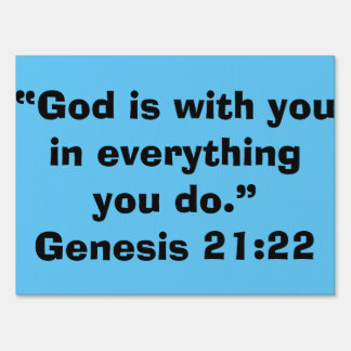 """""""God is with You"""" Inspirational Yard Sign"""