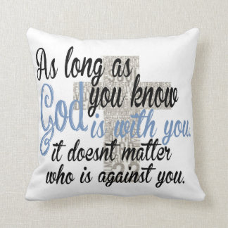 God is with you throw pillow