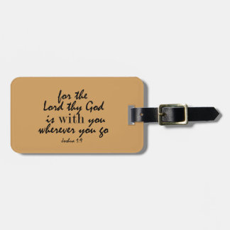 God is with you wherever you go bible verse luggage tag