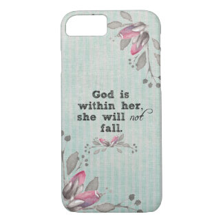 God is Within Her Bible Verse iPhone 8/7 Case