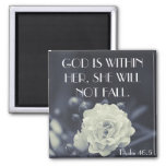 God is within her bible verse Psalm 46:5 2 Inch Square Magnet