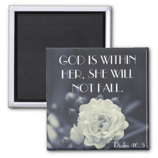 God is within her bible verse Psalm 46:5 Magnet