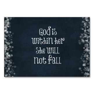God is Within Her, She Will Not Fall Bible Verse Card