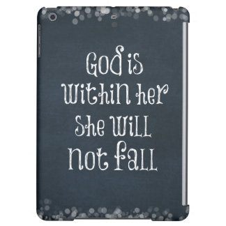 God is Within Her, She Will Not Fall Bible Verse Case For iPad Air