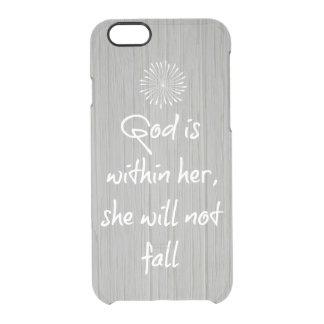 God is Within Her, She Will Not Fall Bible Verse Uncommon Clearly™ Deflector iPhone 6 Case
