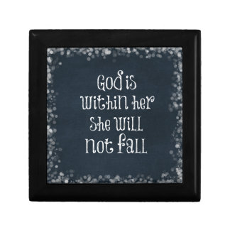 God is Within Her, She Will Not Fall Bible Verse Jewelry Box