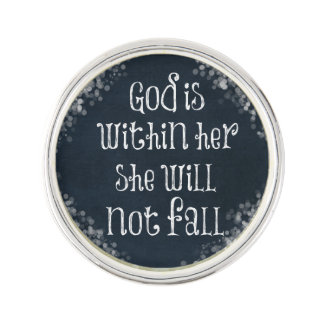 God is Within Her, She Will Not Fall Bible Verse Pin