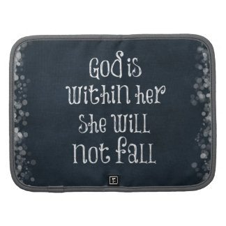 God is Within Her, She Will Not Fall Bible Verse Organizers