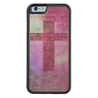 God is within her uplifting Bible verse Psalm 46:5 Carved Maple iPhone 6 Bumper Case