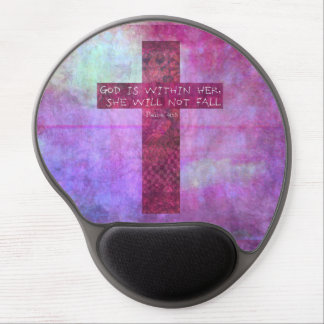 God is within her uplifting Bible verse Psalm 46:5 Gel Mouse Pads