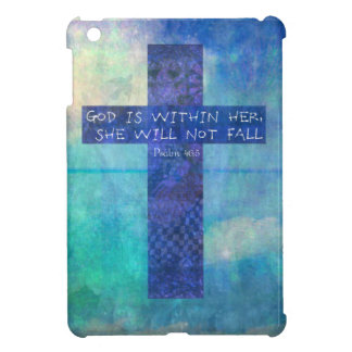 God is within her uplifting Bible verse Psalm 46:5 iPad Mini Cases