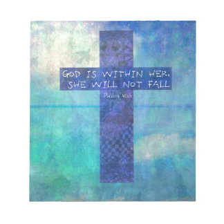 God is within her uplifting Bible verse Psalm 46:5 Note Pad