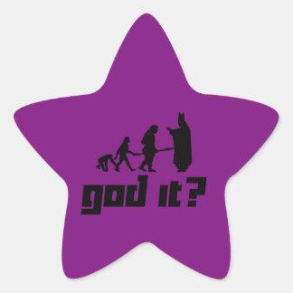 God it? star sticker