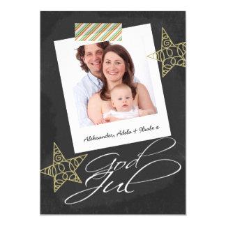 God Jul Chalkboard Photo Frame And Tape Card