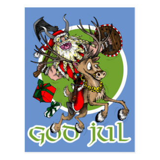 God Jul Christmas Postcard