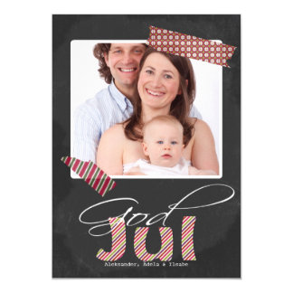 God Jul Photo Frame And Faux Tape Card
