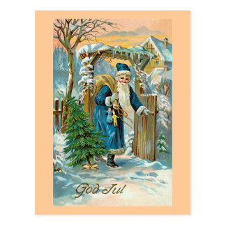 """God Jul"" Postcard"