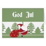 God Jul Santa Cards