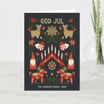 God Jul Scandi Christmas Family Holiday Card