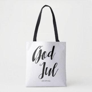 God Jul   Scandinavian Christmas Tote Bag