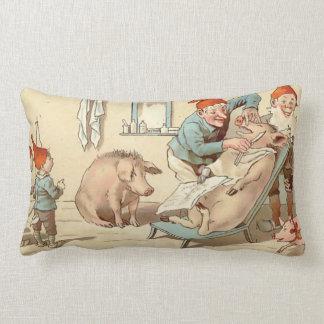 God Jul - Shaving The Pig - Lumbar Pillow
