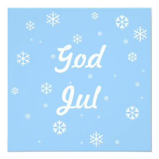 God Jul Snowflakes Card