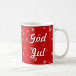 God Jul Snowflakes Mug