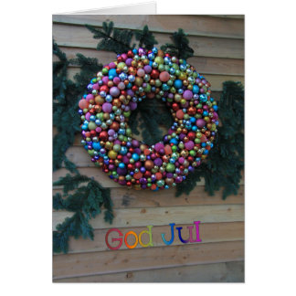 god jul Swedish Christmas Card