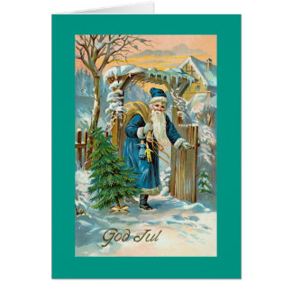 God Jul Swedish Christmas Greeting Card