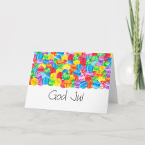 God Jul Swedish Christmas , watercolor Holiday Card