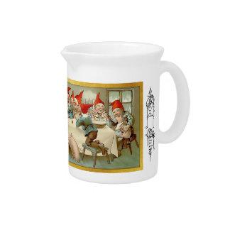 God Jul - Swedish Gnomes Christmas Pitcher 1